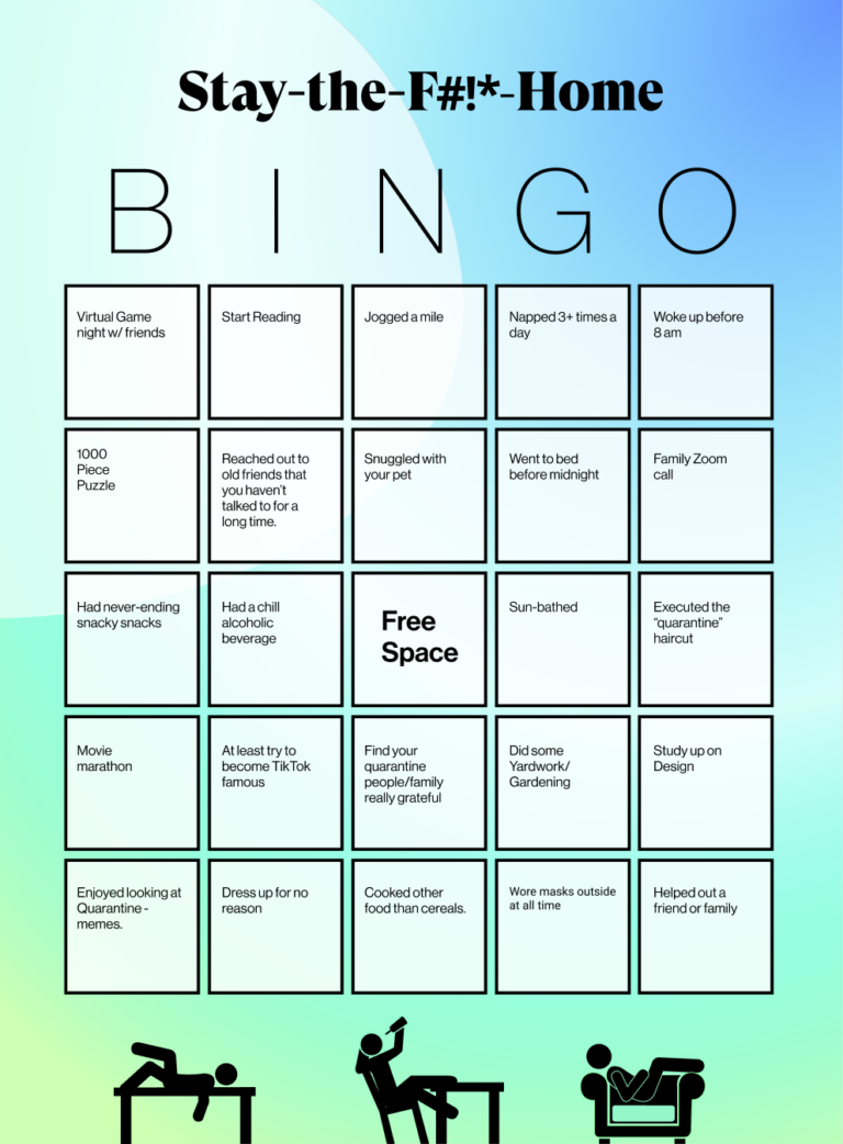 You as a persuader – Stay-the-F***-Home Bingo